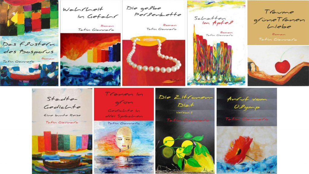 9 Cover Bücher von Tatin Giannaro
